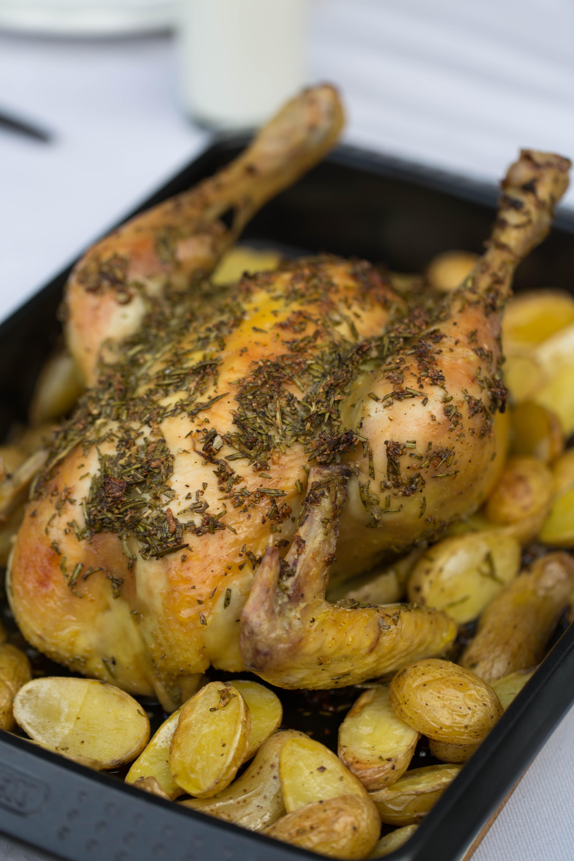 Roast Chicken With Rosemary And Garlic Rub Recipe Sarah Sharratt