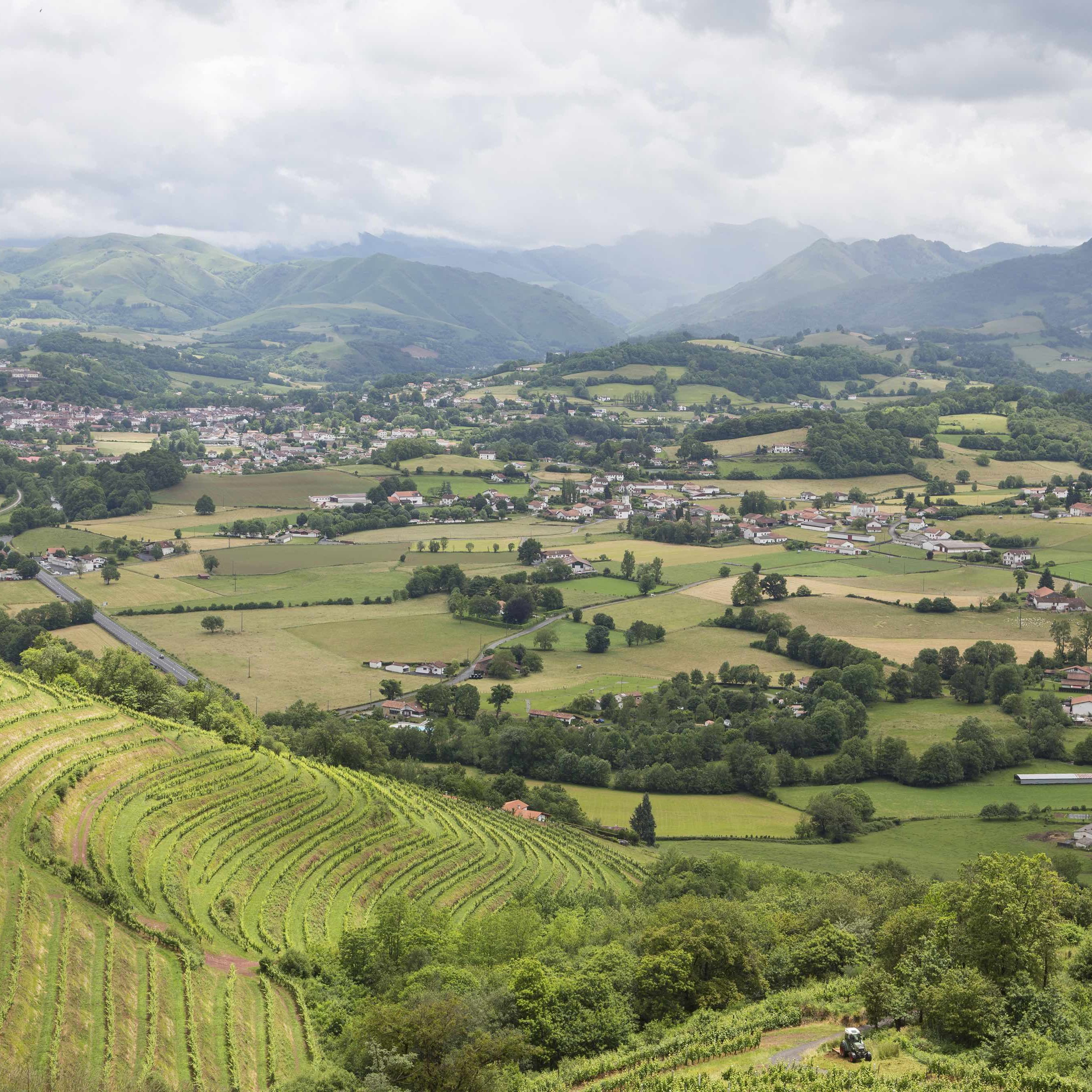 The beautiful scenery enjoyed with the Pyrenees Mountains seen in French Basque Country as seen on UpRooted